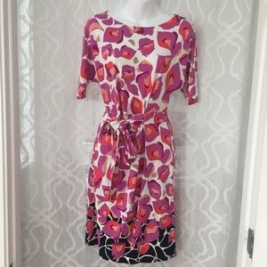 Dresses & Skirts - Ann Taylor Purple White Floral Tie Belt Dress
